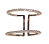 Jewelry Collection Pave Open Bar Ring