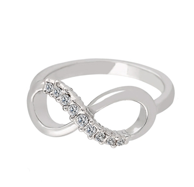 Jewelry Collection Silver Pave Infinity Ring