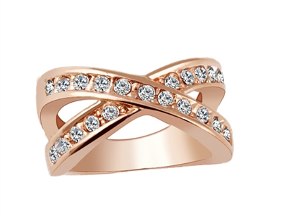 Jewelry Collection Pave Crisscross Ring