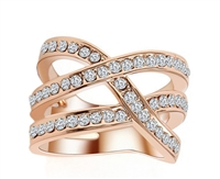 Jewelry Collection Pave Double Crisscross Ring