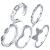 Jewelry Collection 5 Piece Ring Set