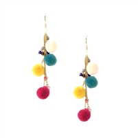 Cyprus Pom Pom Drop Earrings