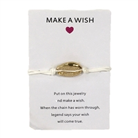 Jewelry Collection Wish Bracelet Gold Cowrie Shell Cord Anklet Bracelet