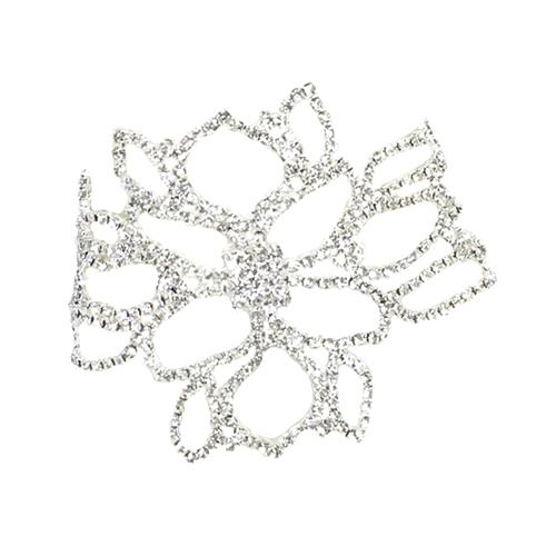Floral Crystal Wide Anklet Statement Bracelet