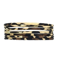 Leopard Multi Layer Wrap Bracelet,