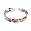 Harper Marbled Resin Open Cuff Bracelet
