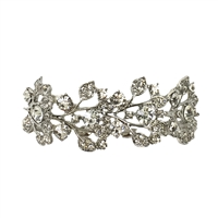 Crystal Leaf Stretch Bracelet Bridal Jewelry