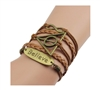 Believe 5 Strand Multi Layer Bracelet