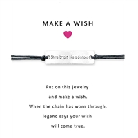 Shine Bright Like a Diamond Cord Wish Bracelet