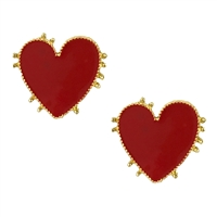 Katrina Knotted Heart Enamel Stud Earrings