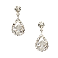 Adesina Crystal Tear Drop Earrings Bridal