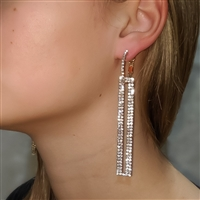 GiGi Linear Crystal Drop Statement Earrings
