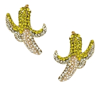 You Peeel Me Banana Crystal Drop Earrings