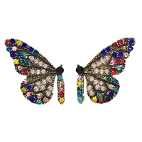 All A Flutter Butterfly Crystal Stud Earrings
