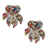 Bahiya Crystal Cluster Statement Earrings