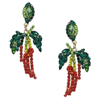 Jewelry Collection Hot Suff Chili Pepper Crystal Drop Earrings