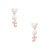 Jewelry Collection Si Siamese Cat Movable Dangle Earrings,