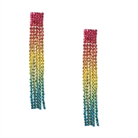 Neve Crystal Fringe Linear Drop Earrings