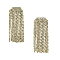 Lana Crystal Fringe Linear Drop Earrings