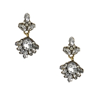 Olivia Victorian Style Crystal Drop Earrings