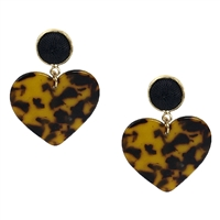 Jewelry Collection Bae Resin Heart Drop Earrings