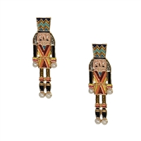March On Holiday Toy Soldier Drop Earrings