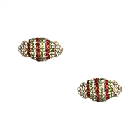 Wrapped Christmas Candy Pave Stud Earrings