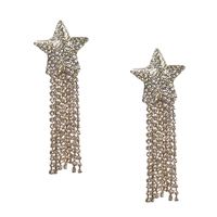 Capella Shooting Star Crystal Statement Drop Earrings
