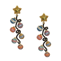 Jewelry Collection Holiday Lights Pave Drop Earrings