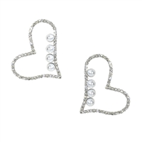 Adore Me Crystal Open Heart Drop Earrings