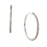 Jewelry Collection KyKy Oversized Crystal Hoop Earrings