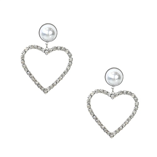 Jewelry Collection Lover Crystal Heart Drop Earrings