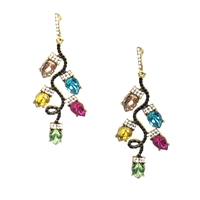 Jewelry Collection Festival Lights Crystal Drop Earrings
