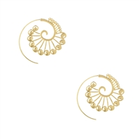 Spiral Hoop Threader Earrings