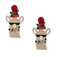 Jewelry Collection Festive Holiday Llama Drop Earrings