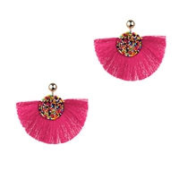 Bora Beaded Fringe Statement Earrings