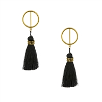 Jewelry Collection Nubia Hoop Tassel Drop Earrings