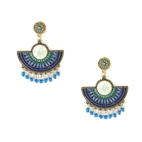 Caye Beaded Statement Drop Earrings
