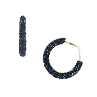 Jewelry Collection Crystal Encrusted Hoop Earrings