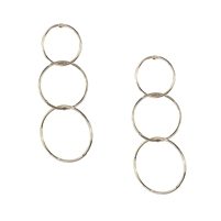 Jewelry Collection Ann Interlocking Triple Hoop Drop Earrings
