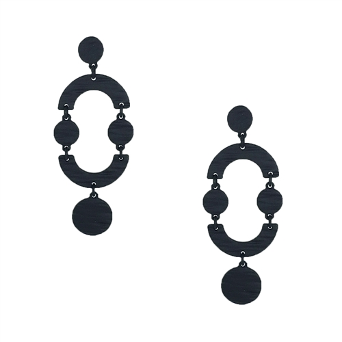Jewelry Collection Eboni Geo Textured Drop Earrings