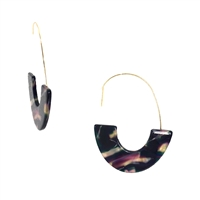 Adda Resin Shell Semicircle Drop Earrings