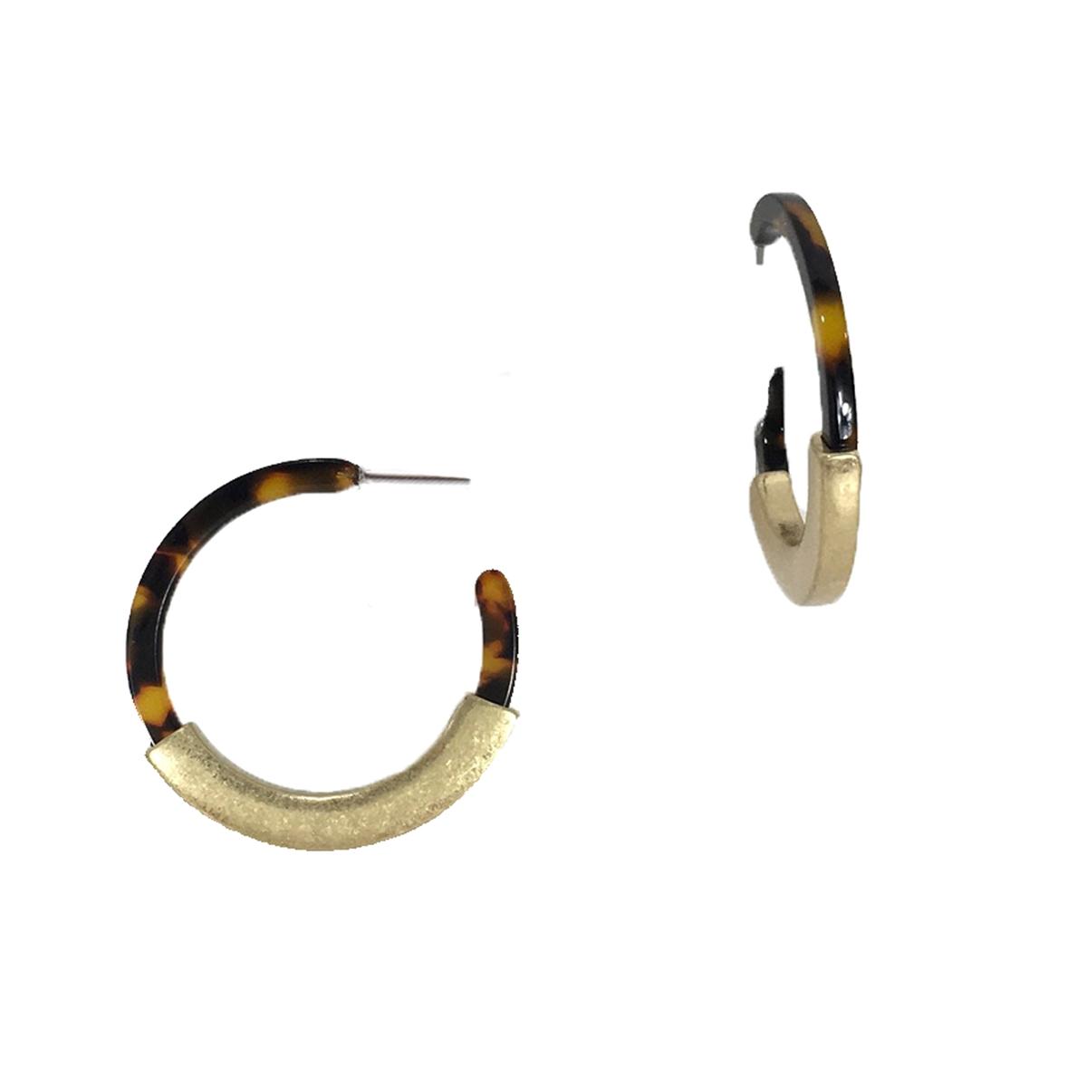 4cc4d2ab3545 Jewelry Collection Daria Metal Bar Resin Hoop Earrings