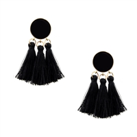 Jewelry Collection Elba Circle Tassel Drop Earrings