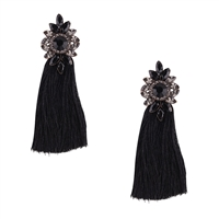 Jewelry Collection Gisele Crystal Tassel Drop Earrings