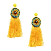 Jewelry Collection Saffron Boho Tassel Drop Earrings
