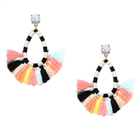 Jewelry Collection Oia Pastel Tassel Drop Earring