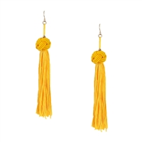 Jewelry Collection Tanya Knot Tassel Drop Earrings