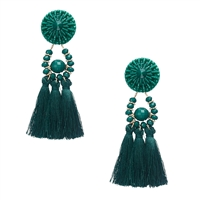 Jewelry Collection Calysta Beaded Tassel Drop Earrings
