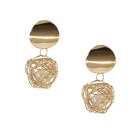 Jewelry Collection Caged Simulated Pearl Drop Earrings